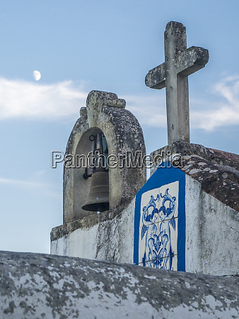 portugal obidos bell tower and cross