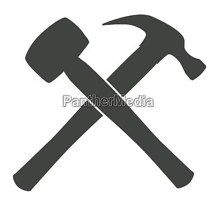 crossed silhouette hammers