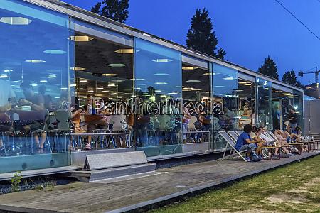 portugal gaia modern open air cafe