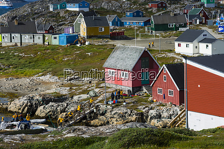 greenland itilleq visitors arriving in town