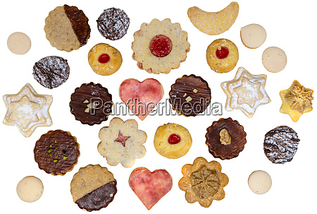 colorful mix of homemade christmas cookies