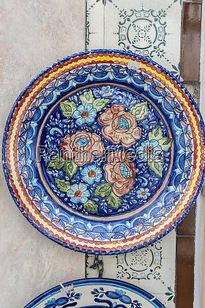 portugal evora hand painted ceramic plates