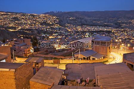 south america bolivia el alto city