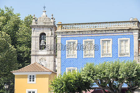 portugal sintra main square bell tower
