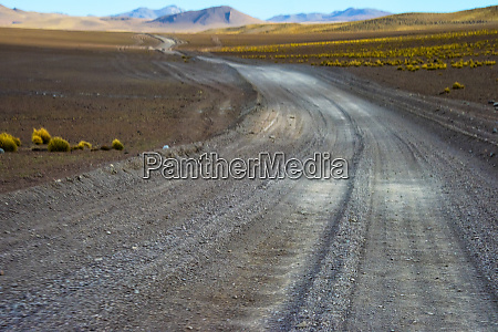 winding road in eduardo avaroa andean