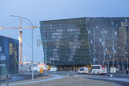 iceland reykjavik harpa concert hall on