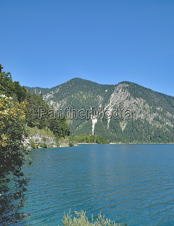 lake plansee near reutte in tirol