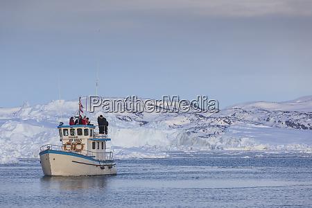 greenland disko bay ilulissat fishing boat