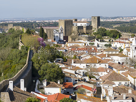 view over historic medieval old town
