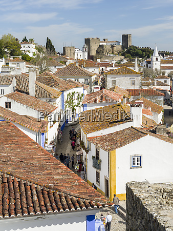historic medieval old town of obidos