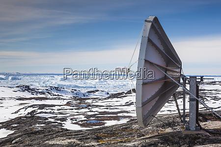 greenland disko bay ilulissat satellite dish