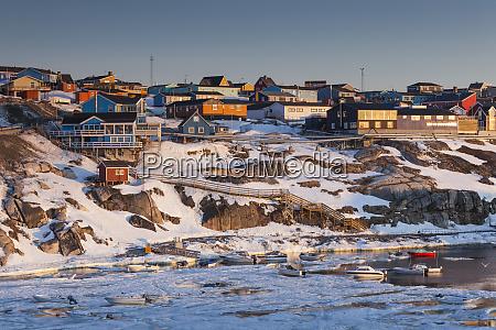 greenland disko bay ilulissat elevated town