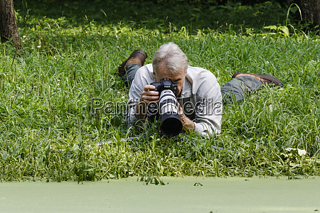 nature photographer working