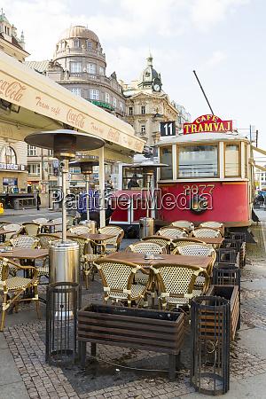 czech republic prague historic trams converted