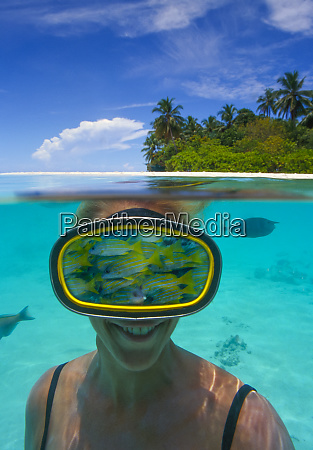 digital composite fish woman 40 years