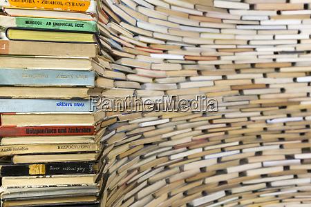 czech republic prague book sculpture at