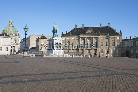 located in the square called frederiksstaden