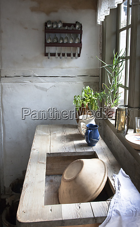 kitchen sink and window in a
