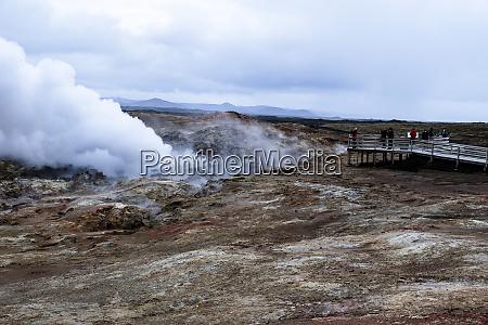viewing geothermal hot spring