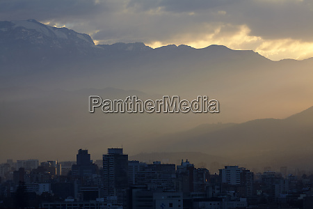 santiago and sunrise over the andes