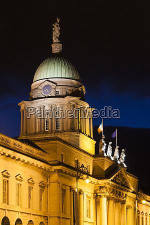 ireland dublin custom house dawn