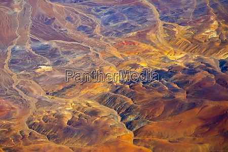 aerial view of land pattern on