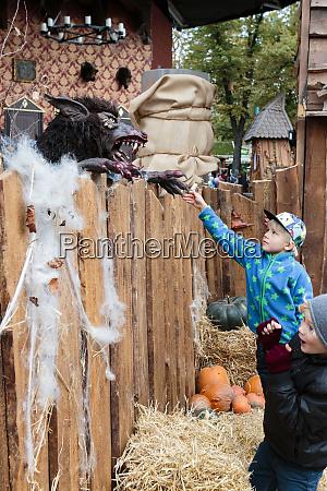 scary wolf and two boys tivoli