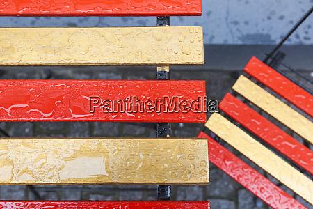 denmark zealand copenhagen wet multicolored chairs