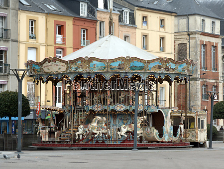 merry go round dieppe normandy france