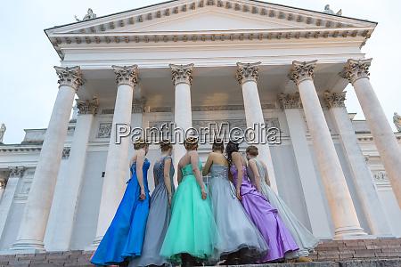 young women in evening dress lutheran