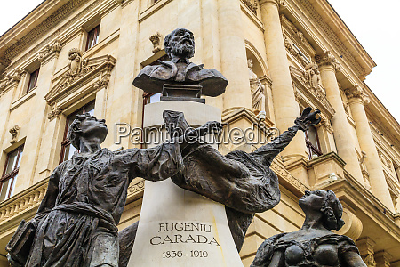 bucharest romania statue of eugeniu carada