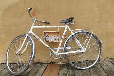 brasov romania bicycle advertising beverages