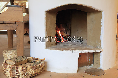 viscri romania traditional village fireplace