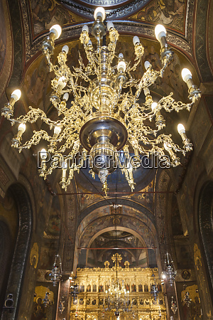 romania bucharest romanian patriarchal cathedral interior