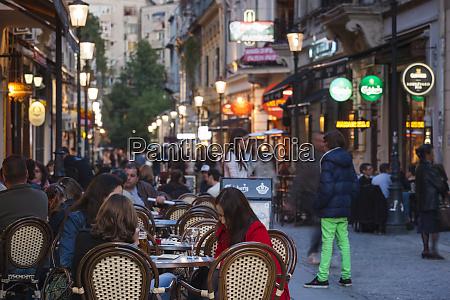 romania bucharest lipscani old town people