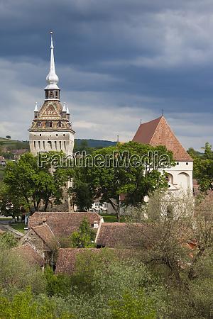 romania transylvania saschiz fortified saxon church