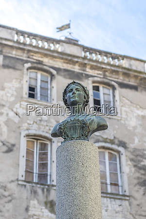 bust representing equality fraternity and liberty