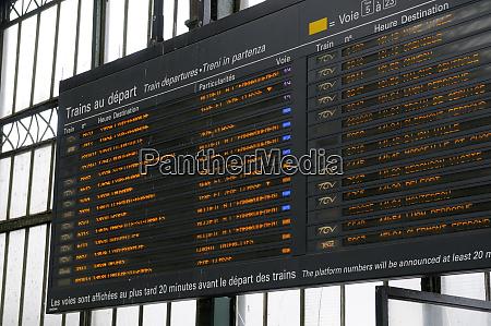 france paris departure sign at the