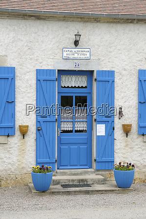 france burgundy nievre blue door and