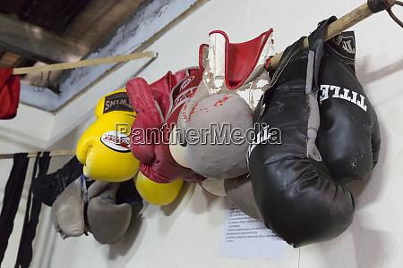 cuba havana boxing gloves hanging on