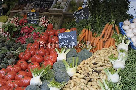 france paris fresh vegetables at a