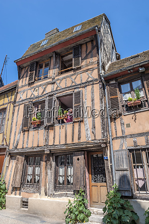 half timber building vernon normandy france