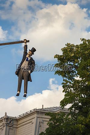 romania moldavia iasi hanging man statue