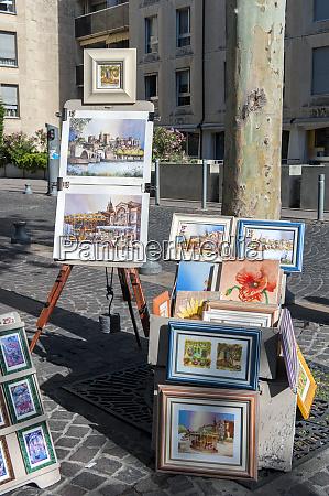 fine art clock square avignon provence