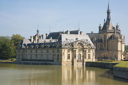 the chateau of chantilly is comprised