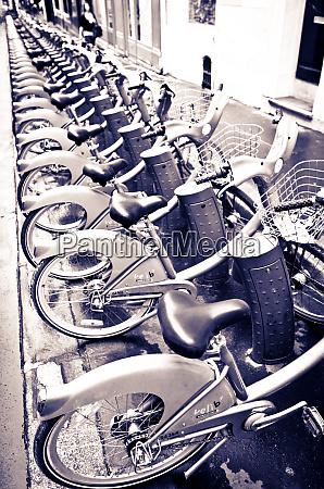 velib bicycles for rent paris france