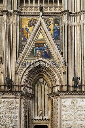 detail of orvieto italys cathedral of