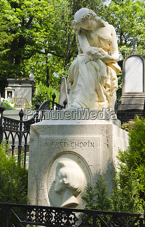 frederic chopins grave at pere lachaise