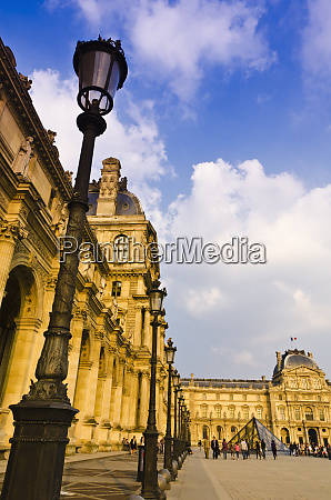 lamp posts and courtyard at the
