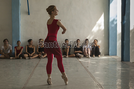 cuba havana young ballet dancers practicing